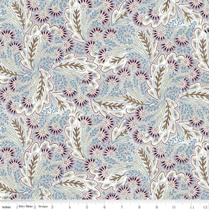 Liberty of London Summer House Feather Dance Lavender quilt fabric by Riley Blake