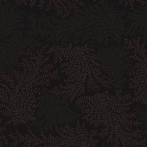 Cinnamon Toast III Black Vines on black background quilt fabric by Studio E