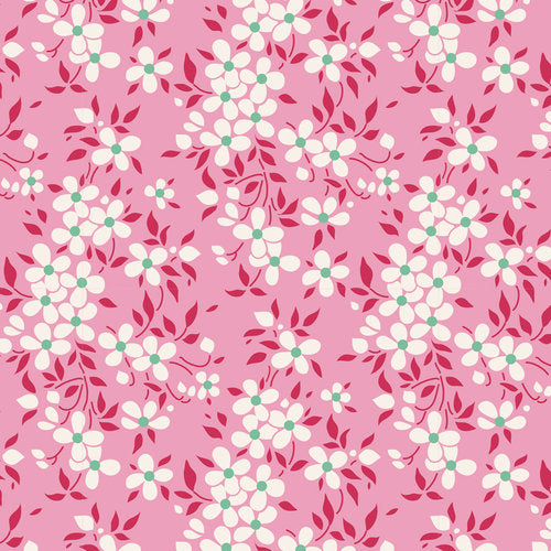 Tilda Apple Butter Peggy in Pink quilt fabric