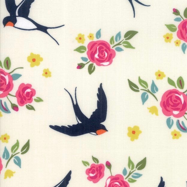 Rosa Eggshell quilt fabric by Crystal Manning for Moda