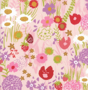 Growing Beautiful PInk fabric by Crystal Manning for Moda