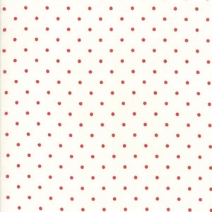 Sweet Tea Dot Vanilla Red by Sweetwater for Moda Fabrics