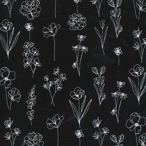 Illustrations Wildflowers Black