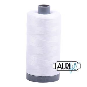 Aurifil 28wt Thread - White