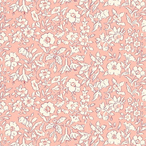 Liberty of London Cottage Garden Morning Dew Coral Cotton