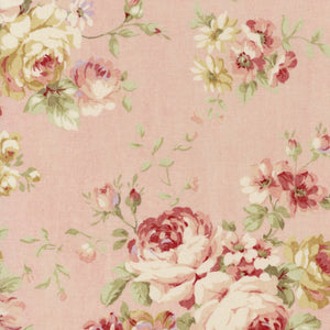 Lecien Durham Quilt Collection 2019 Roses on Pink Fabric