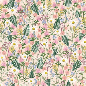 Rifle Paper Co Lawn in Pale Rose fabric by Cotton and Steel