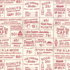 Sweet Tea Cafe Red by Sweetwater for Moda Fabrics