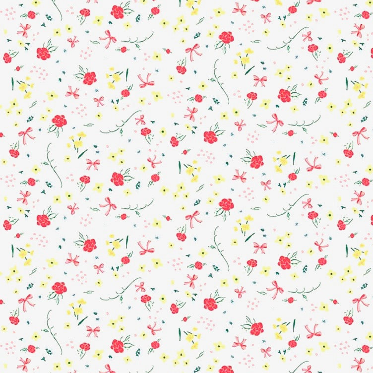 Bunnies & Cream Roses fabric
