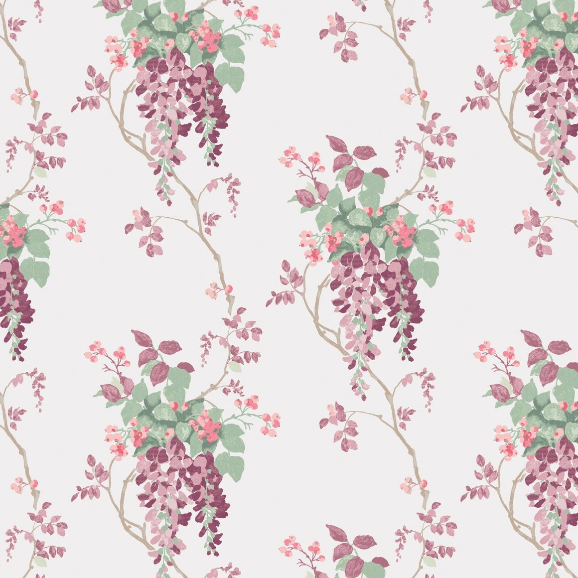 Laura Ashley Wisteria Blooms in Purple fabric