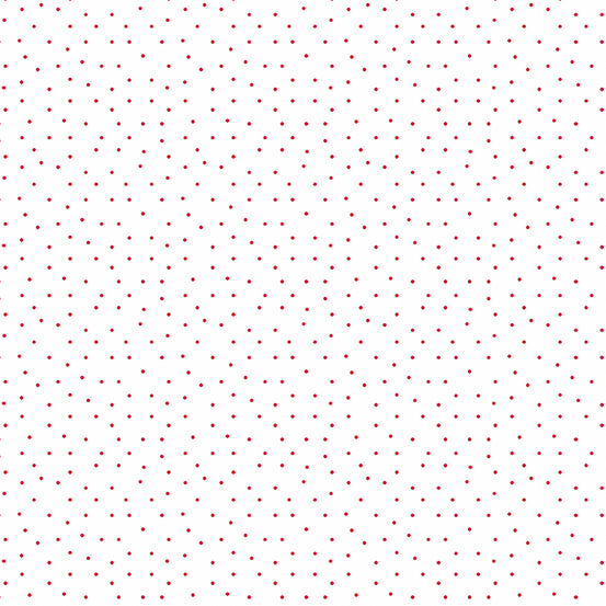 Strawberry Jam Dainty Dots White fabric by Andover with tiny red dots on a white background