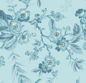 Something Blue Light Blue Bouquet quilt fabric by Edyta Sitar for Laundry Basket Quilts and Andover Fabrics