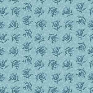Something Blue Peony Sky quilt fabric by Laundry Basket Quilts and Andover Fabrics