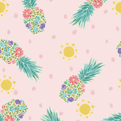 Sun 'n Soil Pineapples fabric by Hope Yoder for Blank Quilting