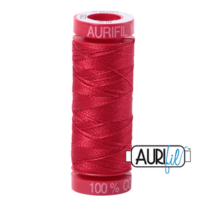 aurifil 12wt thread - Red 2250