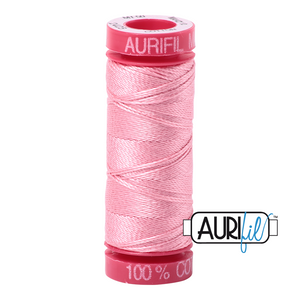 aurifil 12wt thread -Bright Pink 2425