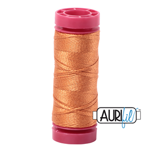 aurifil 12wt thread - Medium Orange 5009