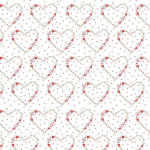Vintage Keepsakes Heart fabric by Beverly McCullough of Flamingo Toes for Riley Blake