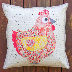 Chooks Cushion Pattern by Claire Turpin