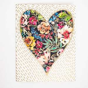 Greeting Card - Flower Heart