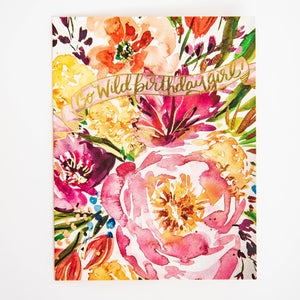Greeting Card - Go Wild Birthday Girl