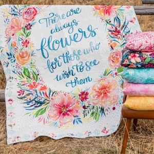 Brightly Blooming Posy-Tive Vibes Quilt Panel