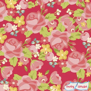 Hello Gorgeous Main in Pink Quilt Fabric by My Mind's Eye for Riley Blake