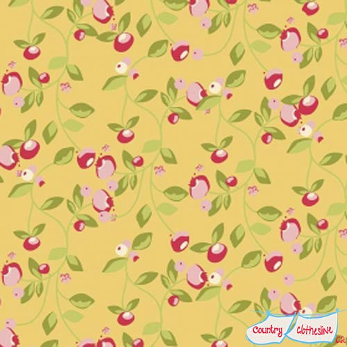 Hello Gorgeous Mustard Vine Quilt Fabric by My Mind's Eye for Riley Blake