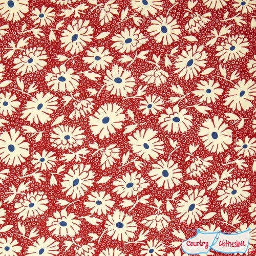 Hop Skip & a Jump Lazy Daisy in Cherry Quilt Fabric by American Jane for Moda