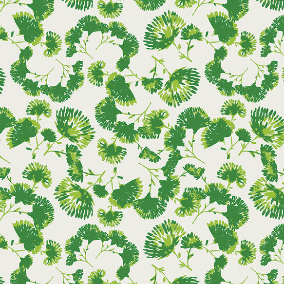Bari J Aster & Indigo Foliage Escape Vert Green Fabric for Art Gallery