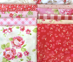 Country Clothesline's Roses & Gingham Quilt Kit
