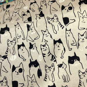 Cats & Dogs Cotton-Linen Canvas