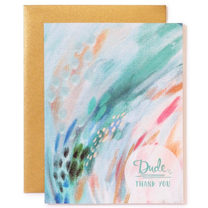 Greeting Card - Dude Thank You