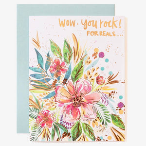 Greeting Card - Wow, You Rock