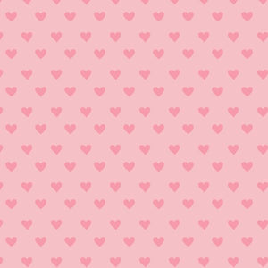 Liberty of London Tea for Two Pink Candy Hearts fabric