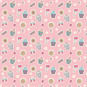 Liberty of London Tea for Two Pink Tea Party fabric