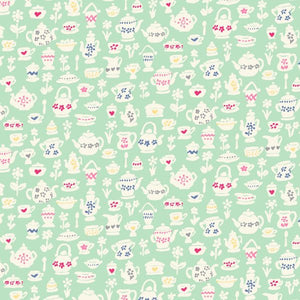 Liberty of London Tea for Two Mint Teacup Treasures fabric