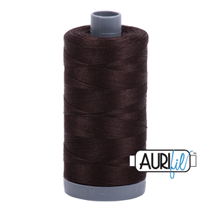 Aurifil 28wt Thread - Very Dark Bark 1130