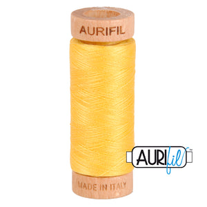 aurifil 80 wt cotton 1135 Pale Yellow