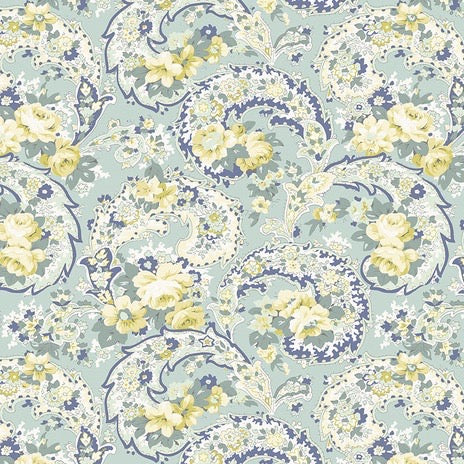 Dream Cottage Paisley Garden Spruce by Verna Mosquera for Freespirit Fabrics