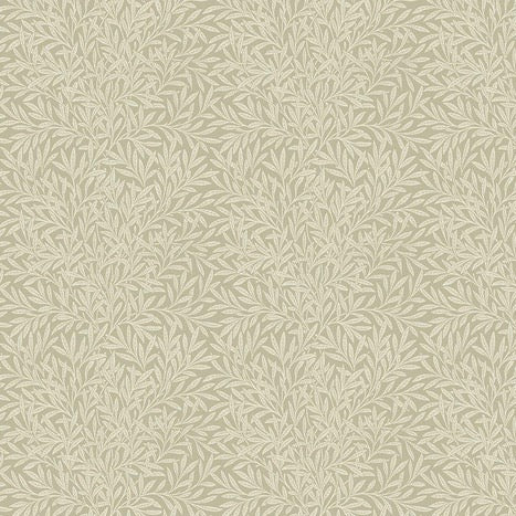 William Morris & Co Bloomsbury Willow Beige Fabric by Freespirit