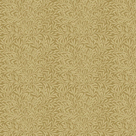 William Morris & Co Bloomsbury Willow Gold Fabric by Freespirit