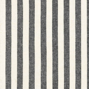 Essex Yarn Dyed Classic Woven Stripe Black