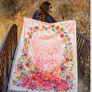 Brightly Blooming Rosie Love Quilt Panel