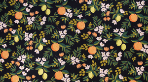 Primavera by Rifle Paper Co Citrus Floral Black Canvas