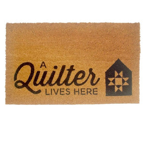 A Quilter Lives Here Doormat