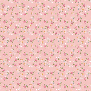 Grandale Ditzy Pink fabric by Keera Job Design Studio for Riley Blake