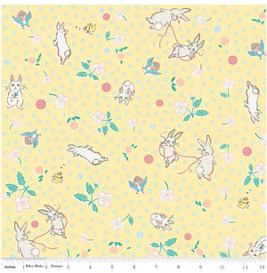 Bunnies & Blossoms Yellow