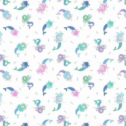 Small Things Mystical & Magical Mermaid fabric by Lewis & Irene
