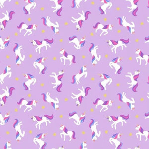 Small Things Mystical & Magical Unicorns on Lavendar